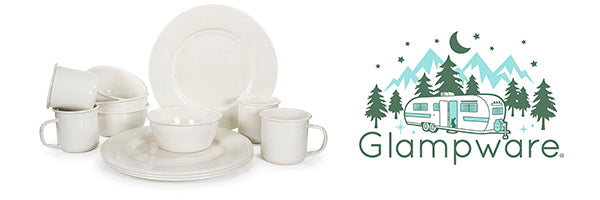 Cream Glampware by Golden Rabbit Enamelware