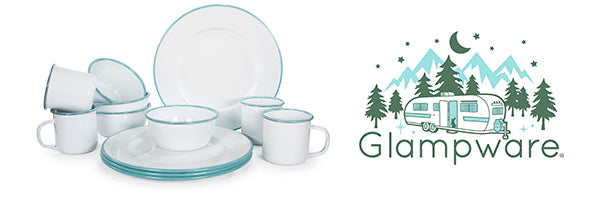 Sea Glass Glampware by Golden Rabbit Enamelware