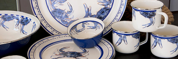 Blue Crab by Golden Rabbit Enamelware