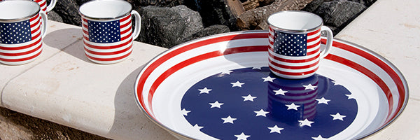 Stars and Stripes by Golden Rabbit Enamelware