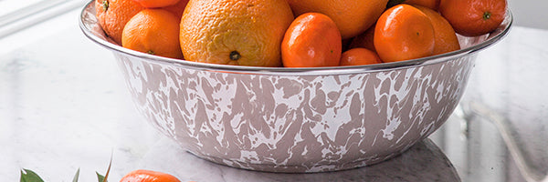 Taupe Swirl by Golden Rabbit Enamelware