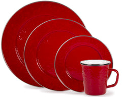 Solid Red Enamelware