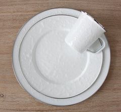 WW07S4 - Set of 1 Solid White Dinner Plates Lifestyle 1