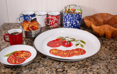 TM04S4 - Set of 4 Tomatoes Pasta Plates Image 2