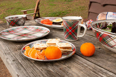 HP06 - Highland Plaid Oval Platter Lifestyle 2