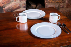 RBW91 - Rolled Black Rim Plate Set/4 Image 5