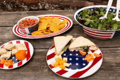 SS06 - Stars & Stripes Oval Platter Lifestyle 1