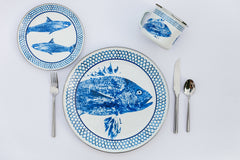 FC56S4 - Set of 1 Fish Camp Dinner Plates Lifestyle 1