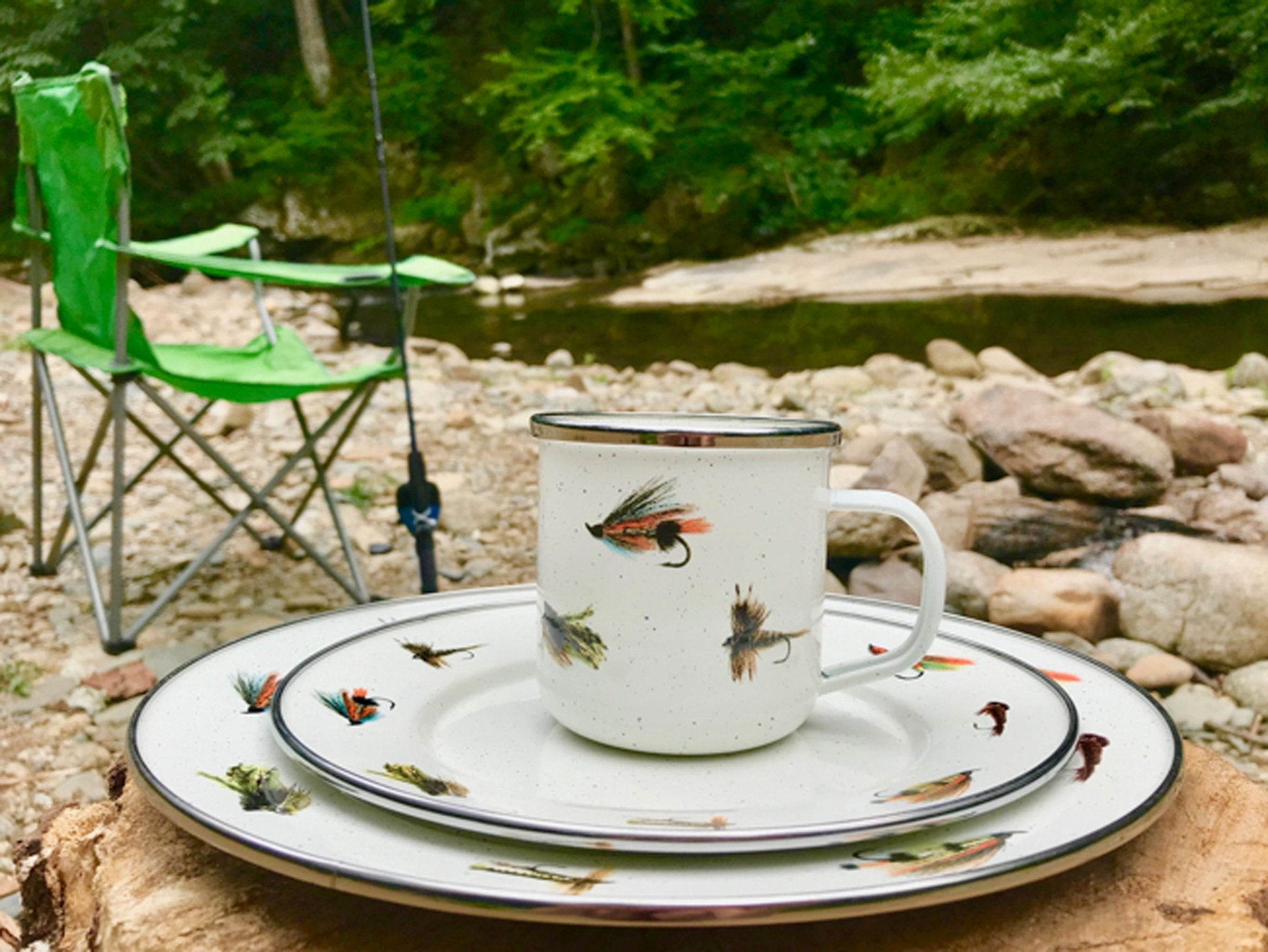 FF05S4 - Set of 4 Fishing Fly Adult Mugs Image 2