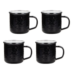 BK05S4 - Set of 4 Solid Black Adult Mugs Image 1