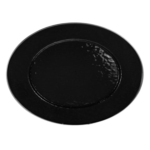 BK06 - Solid Black Pattern - Oval Platter