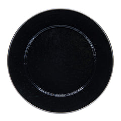 BK07S4 - Set of 4 Solid Black Dinner Plates Image 2