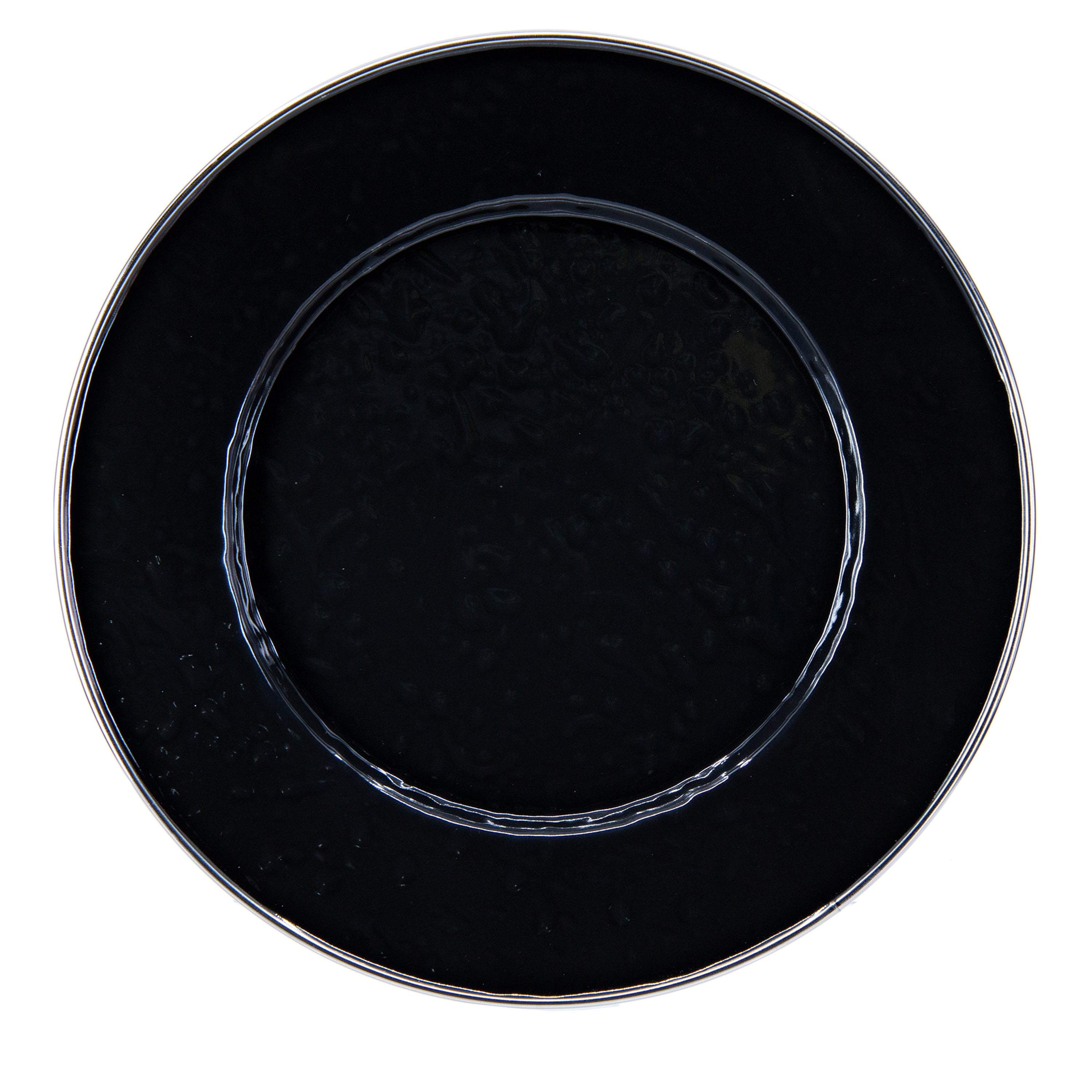 BK11S4 - Set of 4 Solid Black Sandwich Plates Image 2