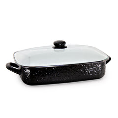 Solid Black Roasting Pan
