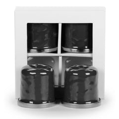BK37 - Solid Black Salt & Pepper Image 1