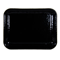 Set of 2 Solid Black Quarter Sheet Trays