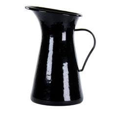 Solid Black Medium Pitcher