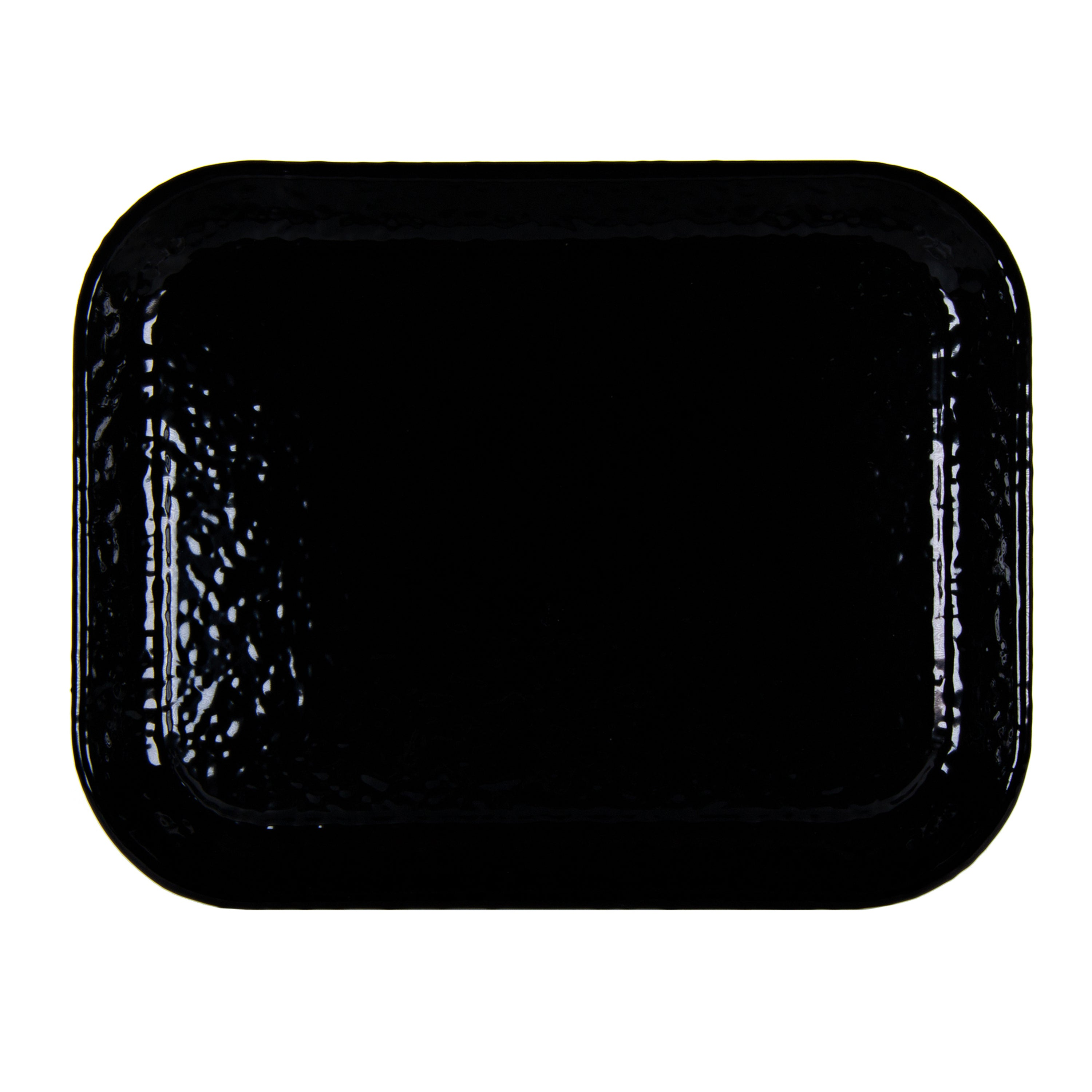 BK98 - Solid Black Half Sheet Tray Image 1