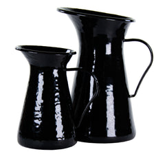 BK33 - Solid Black Small Pitcher Image 2