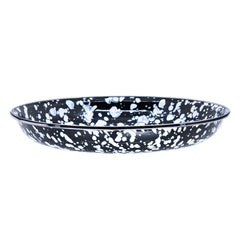 BL04S4 - Set of 4 Black Swirl Pasta Plates Image 2