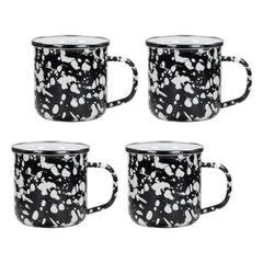 BL05S4 - Set of 4 Black Swirl Adult Mugs Image 1