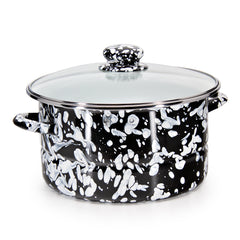 BL72 - Black Swirl Pattern - 6qt Stock Pot