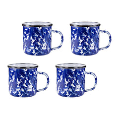 CB05S4 - Set of 4 Cobalt Swirl Adult Mugs Image 1