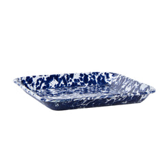 CB09S2 - Set of 2 Cobalt Swirl Square Trays Image 3