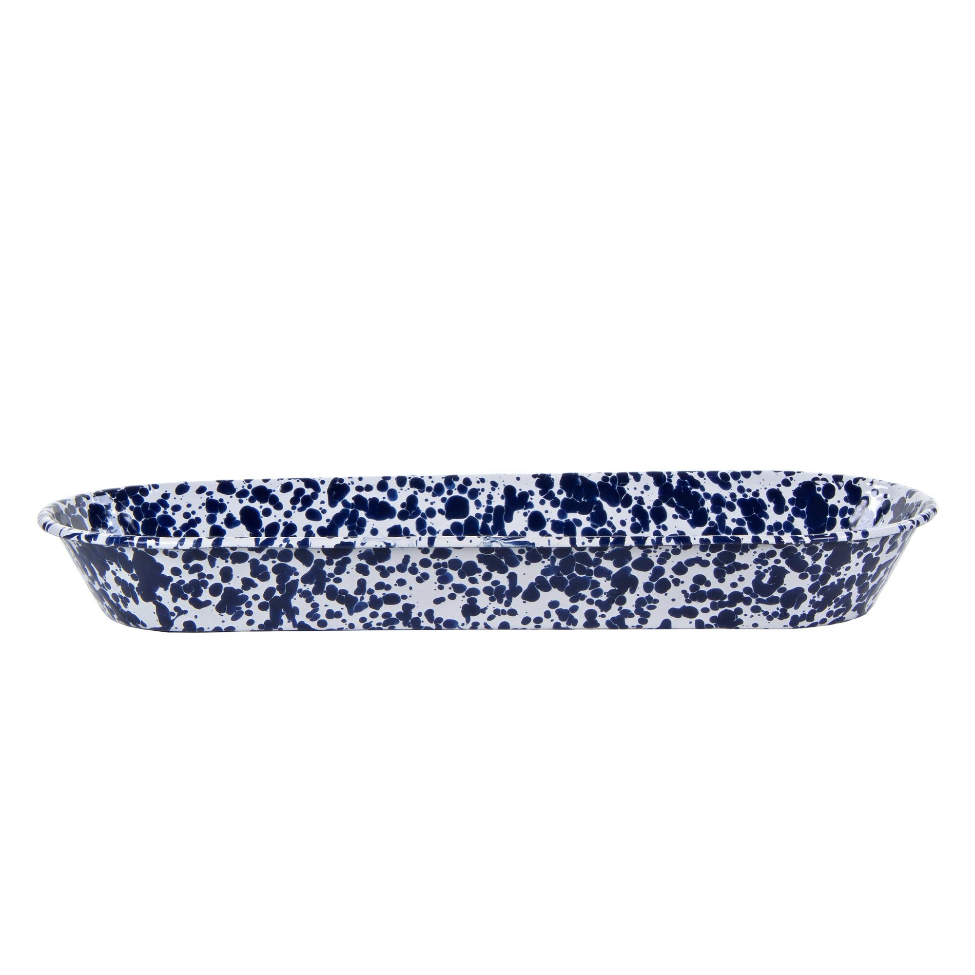 CB10 - Cobalt Swirl Oval Basket Product 2