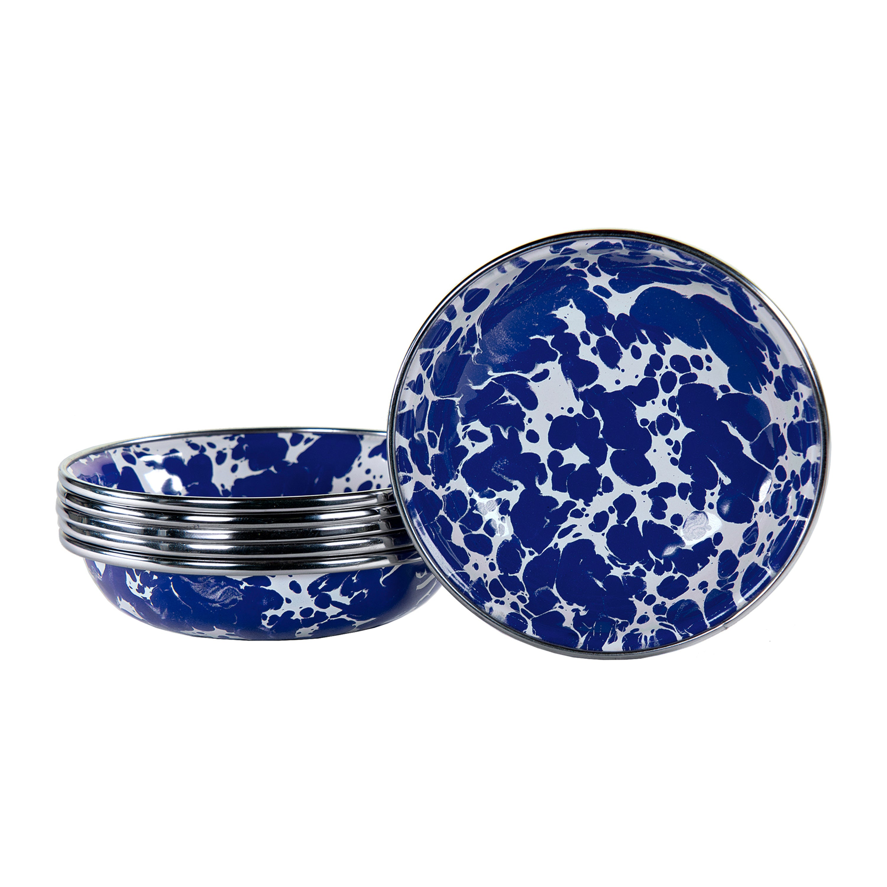 CB59S6 - Set of 6 Cobalt Swirl Tasting Dishes Image 1
