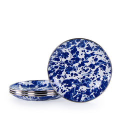 CB62S4 - Set of 4 Cobalt Swirl Bread & Butters Image 1