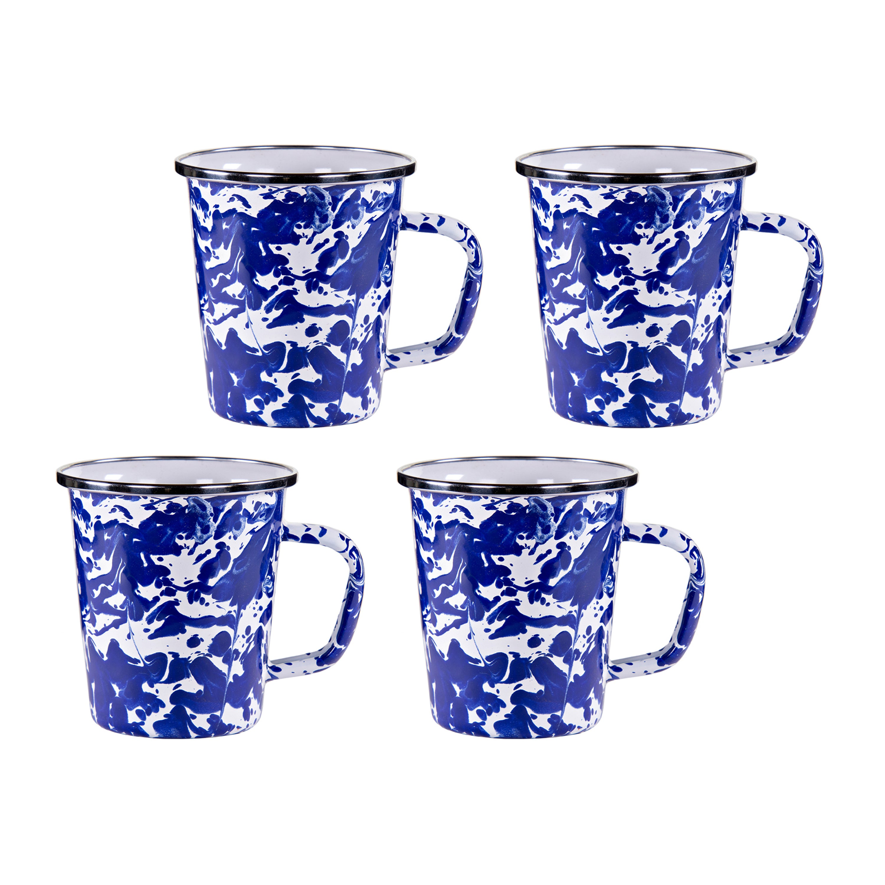 CB66S4 - Set of 4 Cobalt Swirl Latte Mugs Image 1
