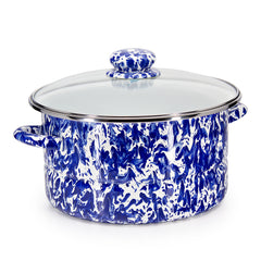 CB72 - Cobalt Swirl 6qt Stock Pot Product 1