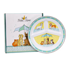 Raining Cats and Dogs Toddler Plate