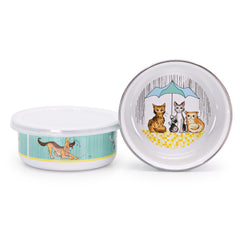 CD60S4 Set of 4 Raining Cats and Dogs Child Bowls