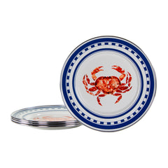 CR11S4 - Set of 4 Crab House Sandwich Plates Image 1
