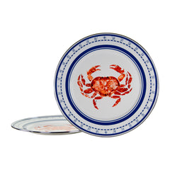 CR26S2 - Set of 2 Crab House Chargers Image 1