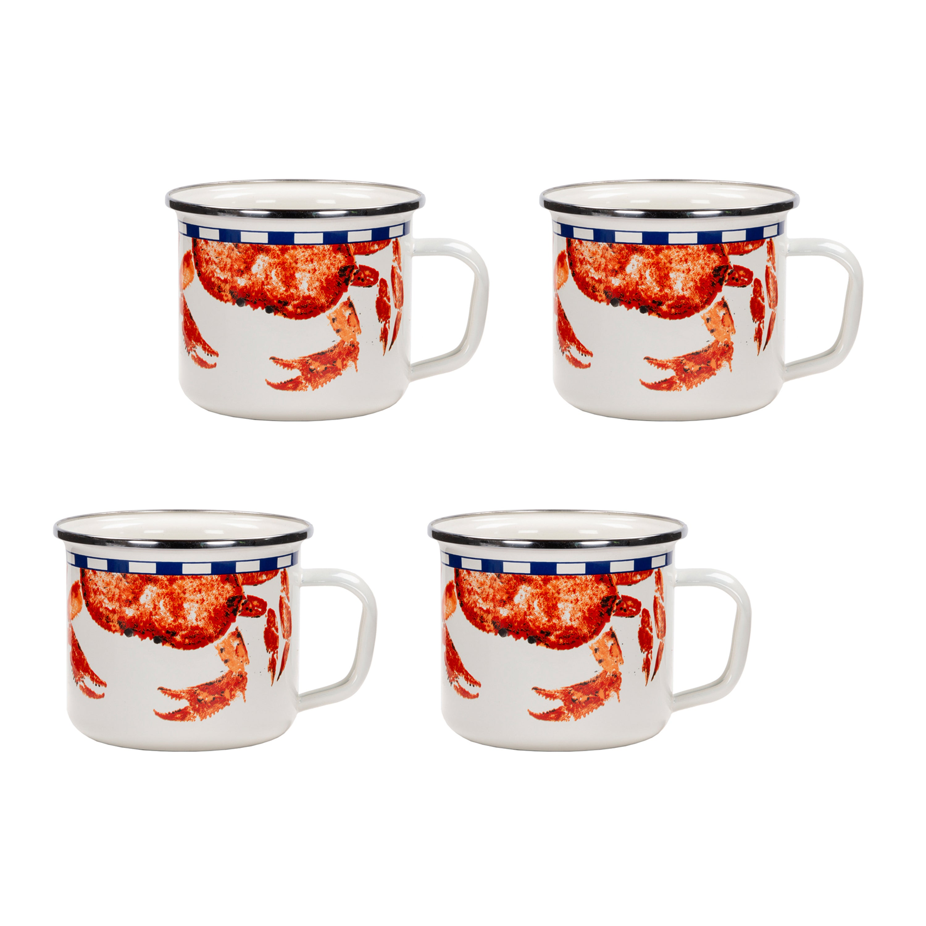 Set of 4 Crab House Grande Mugs