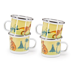 Set of 4 Dinosaurs Child Mugs