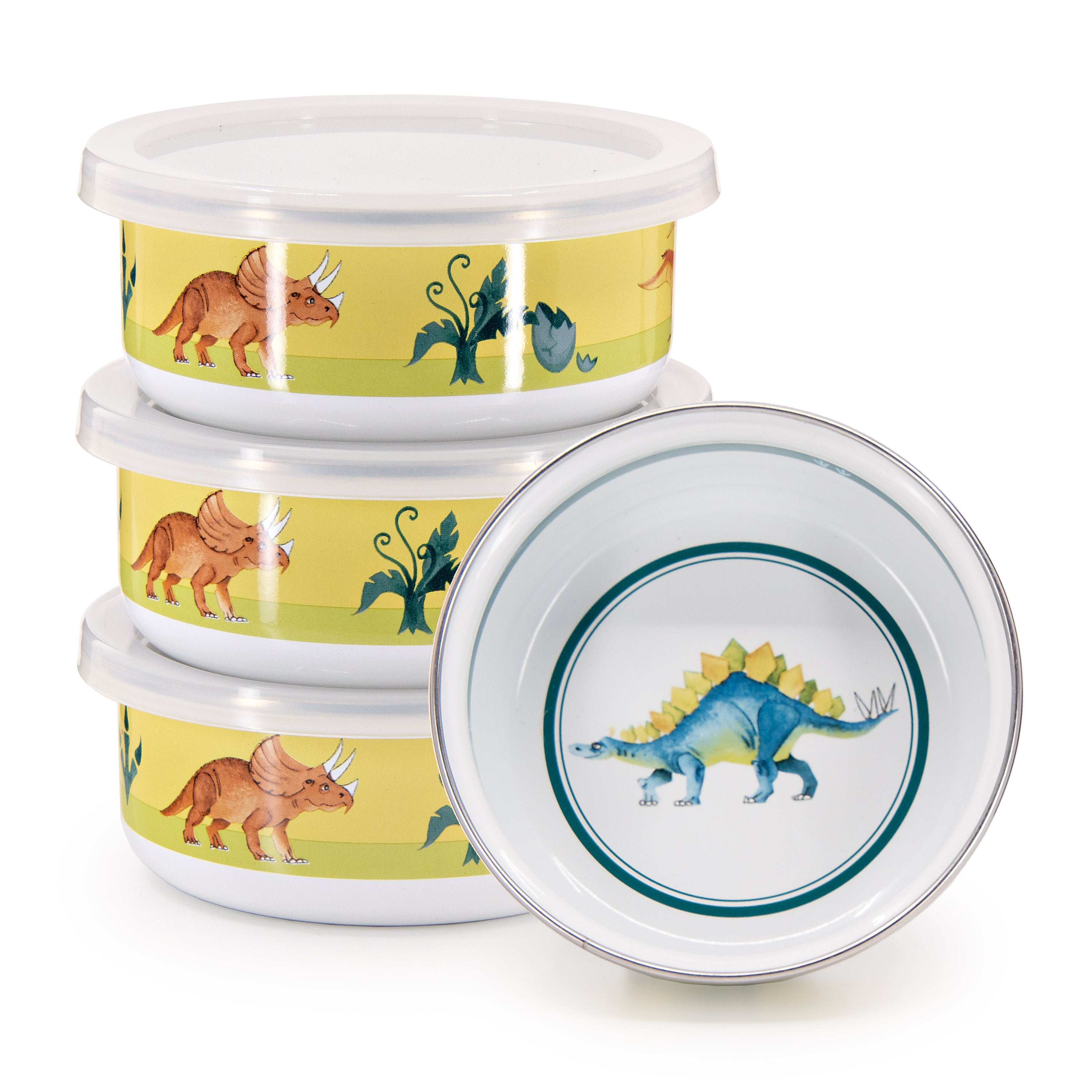 Set of 4 Dinosaurs Child Bowls