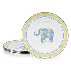 Set of 4 Elephant Child Plates