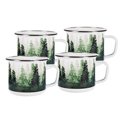 Set of 4 Forest Glen Grande Mugs