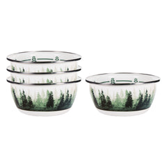 Set of 4 Forest Glen Salad Bowls