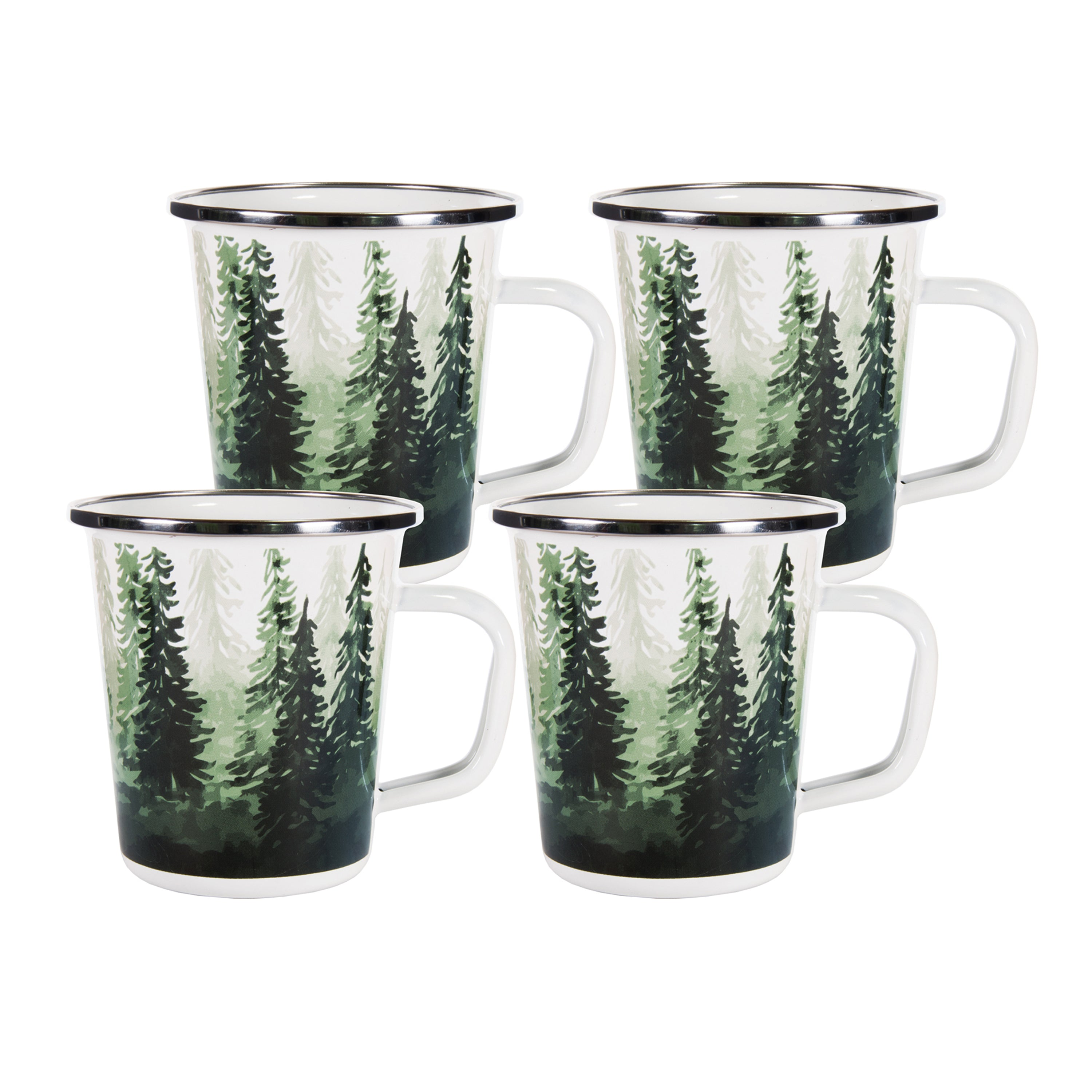 Set of 4 Forest Glen Latte Mugs