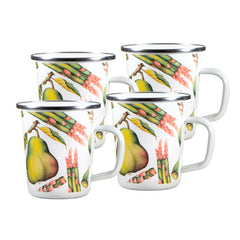 FP66S4 - Set of 4 Fresh Produce Latte Mugs Image 1