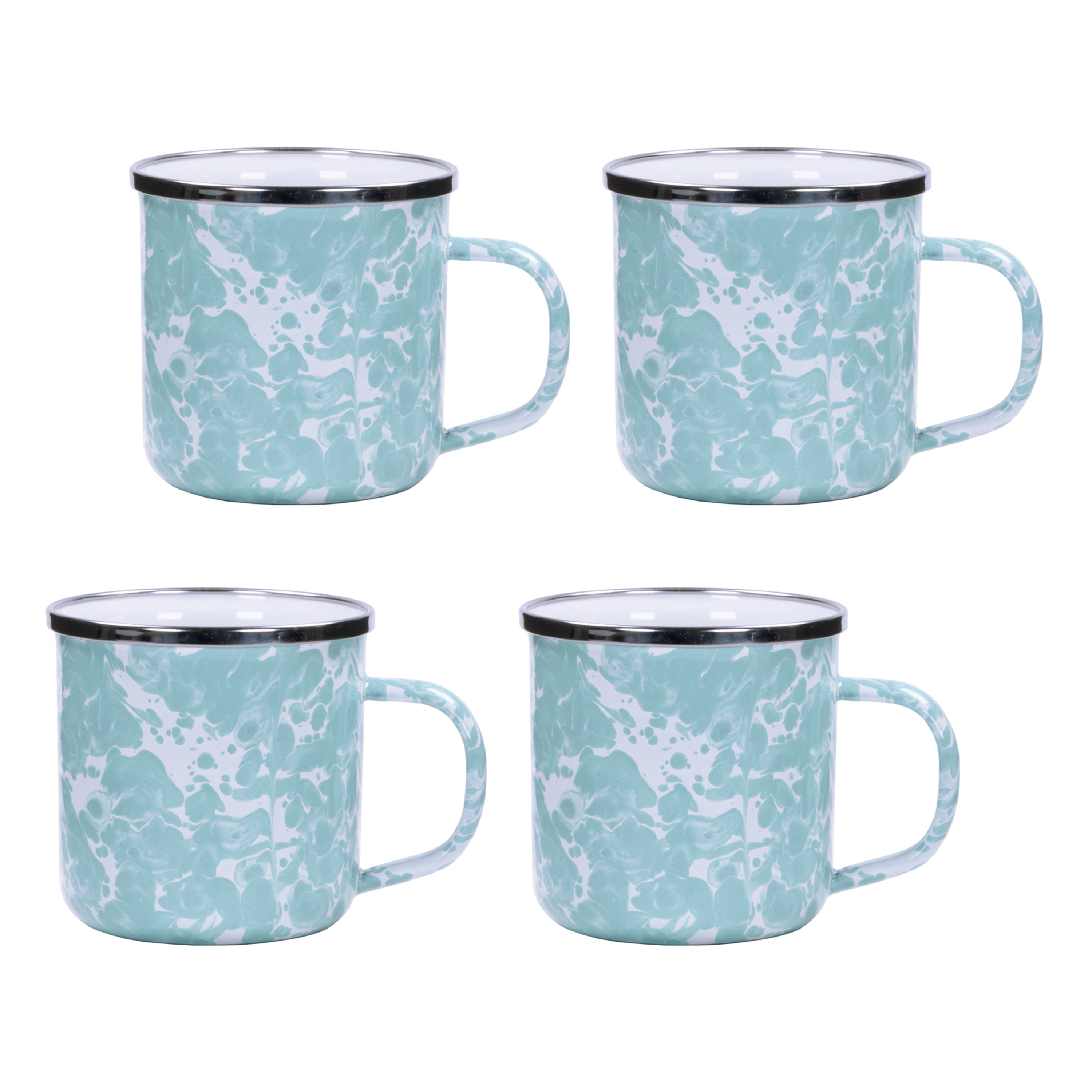 GL05S4 - Set of 4 Sea Glass Adult Mugs Image 1