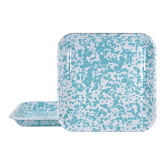 GL09S2 - Set of 2 Sea Glass Square Trays Image 1