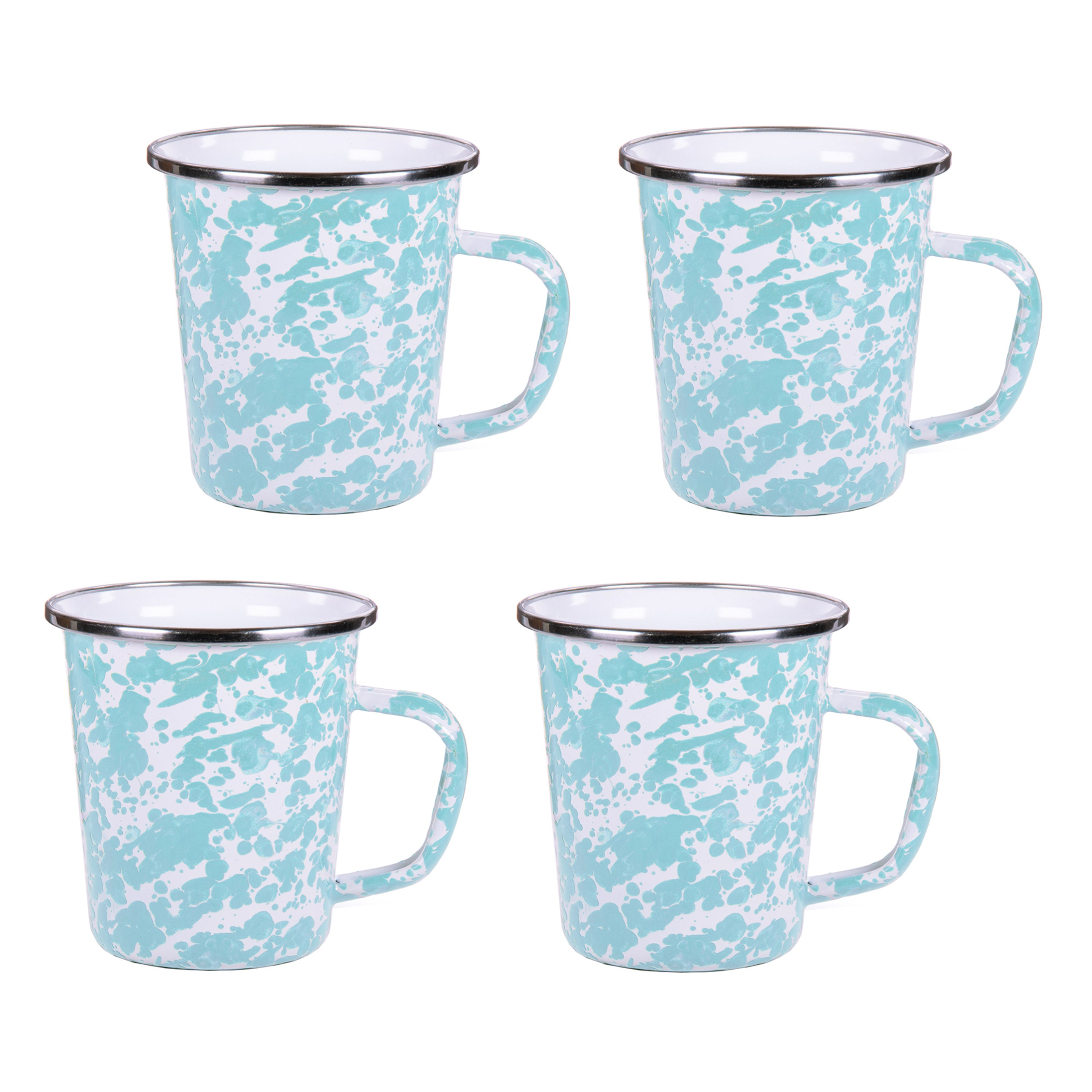 GL66S4 - Set of 4 Sea Glass Latte Mugs Image 1