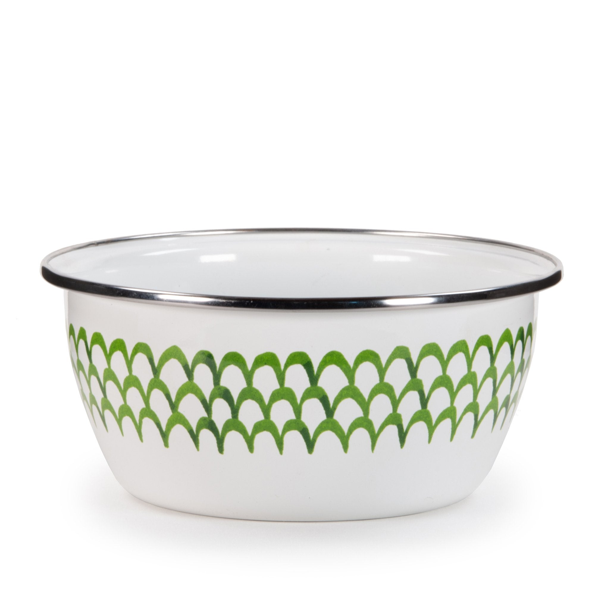 GS61 - Green Scallop Pattern - Salad Bowl