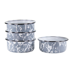 GY60S4 - Set of 4 Grey Swirl Soup Bowls Image 1